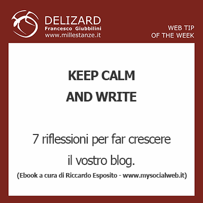 Web Tips - Keep Calm and Write, Ebook gratuito a cura del copywriter Riccardo Esposito
