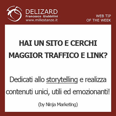 Web Tip – Lo storytelling come forma ideale di content marketing