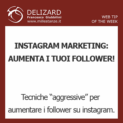 #16 DELIZARD WEB TIP - MARKETING ATTRAVERSO INSTAGRAM: COME INCREMENTARE I FOLLOWERS IN MODO AGGRESSIVO