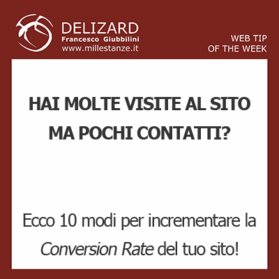 DELIZARD WEB TIP - COME INCREMENTARE LA CONVERSION RATE DEL TUO SITO INTERNET