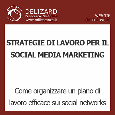 DELIZARD WEB TIP - Come organizzare un piano di lavoro di Social Media Marketing