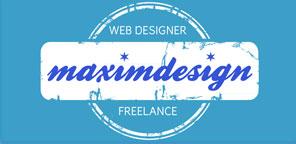 Logo Maximdesign - Web Designer Freelance