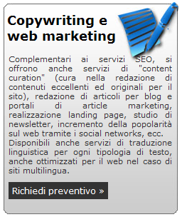 Servizi SEO: Web Copywriting e Web Marketing