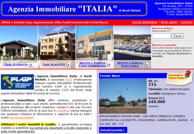 Italia Real Estate Agency: Rental and For Sale Houses, Apartments, Villas and Commercial Properties | Rosignano Solvay, Livorno - Toscana