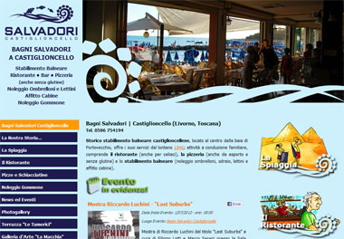 Salvadori Beach: Rental chairs, loungers, beds, rental cabins, boat rental, Restaurant and Pizzeria for celiac | Castiglioncello, Livorno - Toscana