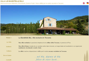 Villa Banditelle Blu - Exclusive villa for events, weddings and parties. Villa for rent in Toscana | Pisa - Toscana