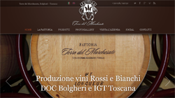 Sito web Wordpress per Terre del Marchesato - Bolgheri, Livorno, Toscana | Sito web professionale in Wordpress